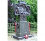 Saltburn War Memorial Restoration - A restored memorial assisted by a£7000 donation by Saltburn Rotary Club headed by Past President Allan Whiley