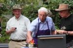 Summer Barbecue 2012 - President Iain supervising the cooks