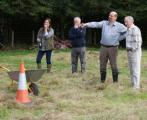 28/09 Rothiemay day - We said to park the wheel barrow over there...can't they see the cone?