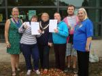 Thame Swimathon 2014 - with Mayor and Deputy Mayor of Thame and Linda Emery.