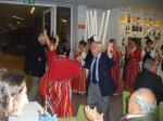Ron Hepworth and John Pearson dancing folklore with the Gaulo Girls