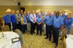 Photo Album - July/August 2014 - While President Robert rang the bell the rest of the club joined in greeting DG Roger