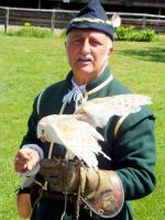 Visit from Pirmasens RC & Kiev Centre RC - May 2012 - A barn owl being put through its paces by the Falconer