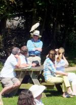 Visit from Pirmasens RC & Kiev Centre RC - May 2012 - The barn owl finds Rtn Andrew