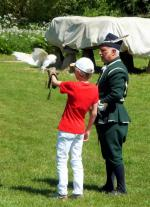 Visit from Pirmasens RC & Kiev Centre RC - May 2012 - Max becomes a falconer's apprentice