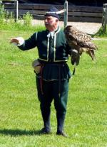 Visit from Pirmasens RC & Kiev Centre RC - May 2012 - The Falconer shows off his Eagle Owl