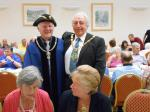 Strawberry Tea 2014 - The Town's Portreave (Phil Cole) and  Mayor (John Allen)