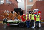SANTA VISITS THE HOUNDSHILL CENTRE, BLACKPOOL - Houndshill Deputy Manager Mark with two Radio Wave representatives.
