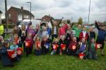 Annual planting of crocuses with the help of local primary school children. - Three Cheers for Tirlebrook School pupils!