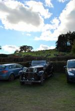 Car Rally parking for the VSCC near Whitton - Hill climb in background 2