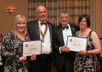 EVENTS IN APRIL 2018 - Two carers receiving a Paul Harris Award in recognition of the outstanding support they gave to Rotarian Michael Day and his late wife during her long illness.