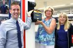 DO WE REALLY MAKE A DIFFERENCE? - The defibrillator being presented for use at Tesco's in Newton Aycliffe