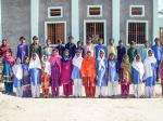 Dhiki School, Sindh province, Pakistan - In front of their new school.