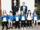Recent Club Activities - Gus Carnegie and Gavin Stewart with Carrbridge Pupils who received Dictionaries.