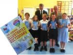 Various club pictures - These Dictionaries are handed free to schools in the King's Lynn area
