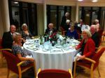 Presidents Weekend at RNLI Poole 3 - 5 October - What a handsome lot on this table