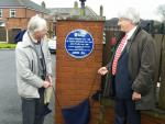 Dr Kershaws Hospice - Unveiling of the plaque to Patrick Steptoe and Sir Robert Edwards March 2015