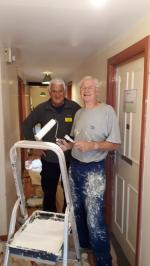 Community Service and Fund Raising - Helping out with the decorating at the Calvert Trust