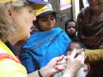 Charities we have or are supporting - Rtn Linda administers vaccine in India