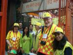 Painting the Town Purple for End Polio Now - Nigel Milway with Fellow Workers in India