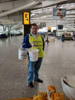 Children in Need Collection Heathrow 13th Nov 2015 - Oxford Spires collecting