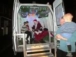 Father Christmas's Grotto Round  - His modern transport