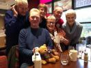 Fred Bear raising awareness and funds to end polio - listening to Chelmsford Community Radio on FM 104.4