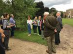 Visit to Fulham Palace August 2019 - Our guide Theresa showing us round the grounds