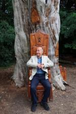 Visit to Fulham Palace August 2019 - President Alper trying out a potential new Presidential throne