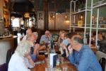 Visit to Fulham Palace August 2019 - Enjoying lunch at the Dukes Head