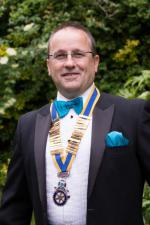 2013 Rotary Pesidential Handover - New President Chris Bottley