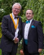 2013 Rotary Pesidential Handover - Tony Receives Vice President's Chain of Office