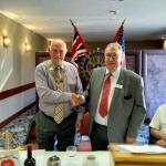 Miscellaneous - 2017/8 president Godfrey Burley handing over to 2018/9 president John Netherwood