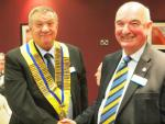 Handover Day - Past President Iain hands over to President Les
