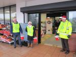 SANTA AND THE MUSICAL SANTA SLEIGH VISITS THE MARTON BOOTHS STORE  - Happy Rotary Collectors.