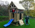 Climbing Frame for Daventry Hill School - Head and Pupils