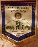 Fellowship visit to Rotary Club of  Anaheim Hills in California, USA -