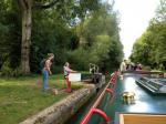 2013 Barge Trips for Local Community Groups - Yet another lock!