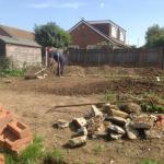11th Sept 2015 - today is pond day ! - cutting out the top path