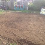 11th Sept 2015 - today is pond day ! - the graded circular lawn area