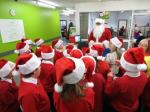 Santa thanks MInworth School pupils for their help -