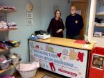 "Rotary Jump Into ""Action for Children"" - Jennifer Wells with Iain Baker in the Swap 'n' Shop."