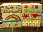 Falkland School Shoebox Collection   - filled and decorated by Falkland School pupils this Christmas
