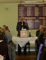 Annual Burns Supper 15th January 2020 - Secretary Stewart Lee presenting the Selkirk Grace.