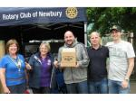 2016 Newbury Boules in the Square - Runners up with a Rotarian interloper