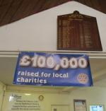 Celebrating reaching £100,000 for local charities - £100000