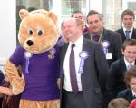 Park House School Turns Purple - with Newbie Bear and Will Job