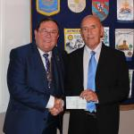 Donations - From Castle Point Sports Club Receiving a cheque for £500