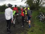 Kirkham Rotary coast to coast ride 2016 - Another puncture on the way to Lancaster.