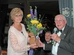 PRESIDENT'S NIGHT.  - Sam thanked Sally Ball for standing in as President's lady for the evening.